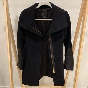 Club Monaco Black Wool Coat